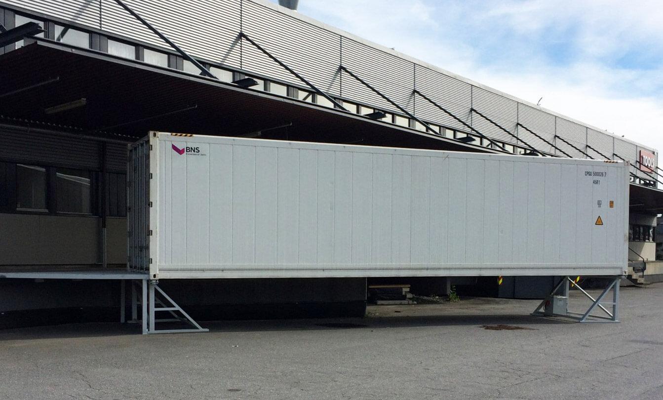 40' kjøl og frys container